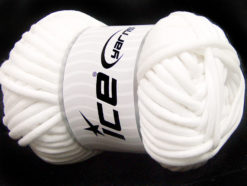 250 gr ICE YARNS TUBE COTTON JUMBO (40% Cotton) Hand Knitting Yarn White