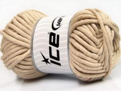 250 gr ICE YARNS TUBE COTTON JUMBO (40% Cotton) Hand Knitting Yarn Beige