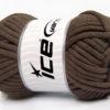 250 gr ICE YARNS TUBE COTTON JUMBO (40% Cotton) Hand Knitting Yarn Dark Brown