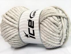 250 gr ICE YARNS TUBE COTTON JUMBO (40% Cotton) Hand Knitting Yarn Light Grey