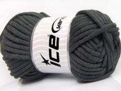250 gr ICE YARNS TUBE COTTON JUMBO (40% Cotton) Hand Knitting Yarn Dark Grey