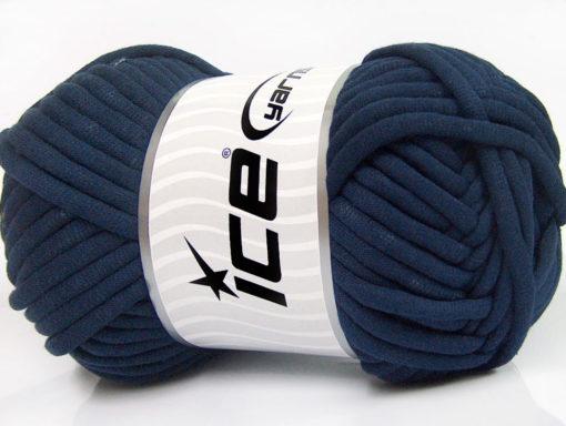 250 gr ICE YARNS TUBE COTTON JUMBO (40% Cotton) Hand Knitting Yarn Navy