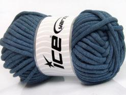 250 gr ICE YARNS TUBE COTTON JUMBO (40% Cotton) Hand Knitting Yarn Jeans Blue