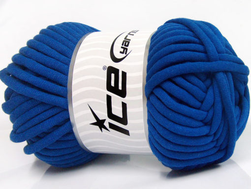 250 gr ICE YARNS TUBE COTTON JUMBO (40% Cotton) Hand Knitting Yarn Blue