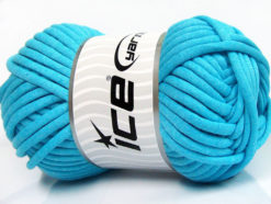 250 gr ICE YARNS TUBE COTTON JUMBO (40% Cotton) Hand Knitting Yarn Turquoise