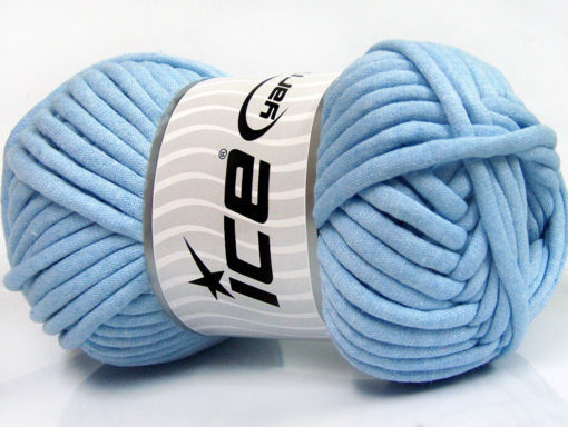 250 gr ICE YARNS TUBE COTTON JUMBO (40% Cotton) Hand Knitting Yarn Light Blue