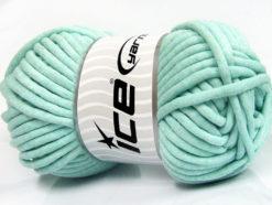 250 gr ICE YARNS TUBE COTTON JUMBO (40% Cotton) Hand Knitting Yarn Mint Green