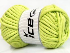 250 gr ICE YARNS TUBE COTTON JUMBO (40% Cotton) Hand Knitting Yarn Light Green