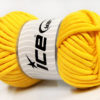 250 gr ICE YARNS TUBE COTTON JUMBO (40% Cotton) Hand Knitting Yarn Yellow
