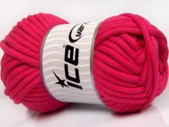 250 gr ICE YARNS TUBE COTTON JUMBO (40% Cotton) Hand Knitting Yarn Fuchsia