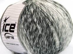 Lot of 4 x 100gr Skeins Ice Yarns ROSETO WORSTED (30% Wool) Yarn Black Grey Shades White