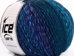 Lot of 4 x 100gr Skeins Ice Yarns ROSETO WORSTED (30% Wool) Yarn Navy Turquoise Lilac Green