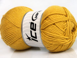 Lot of 4 x 100gr Skeins Ice Yarns BABY SOFTY Hand Knitting Yarn Gold