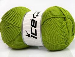 Lot of 4 x 100gr Skeins Ice Yarns BABY SOFTY Hand Knitting Yarn Green