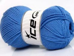 Lot of 4 x 100gr Skeins Ice Yarns BABY SOFTY Hand Knitting Yarn Blue