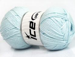 Lot of 4 x 100gr Skeins Ice Yarns BABY SOFTY Hand Knitting Yarn Light Blue