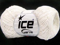 Lot of 8 Skeins Ice Yarns URBAN COTTON LUX (60% Cotton 28% Viscose) Yarn White