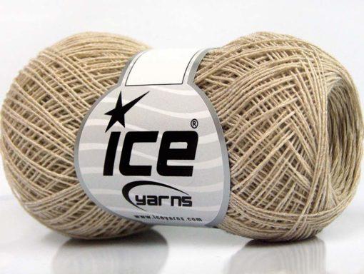 Lot of 8 Skeins Ice Yarns SALE SUMMER (70% Cotton 30% Viscose) Yarn Light Camel