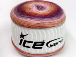 Lot of 2 x 150gr Skeins Ice Yarns CAKES MOHAIR (20% Mohair 20% Wool) Yarn Lilac Shades Camel Burgundy