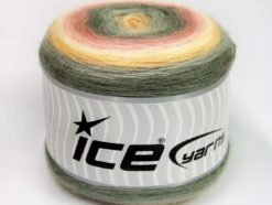 Lot of 2 x 150gr Skeins Ice Yarns CAKES MOHAIR (20% Mohair 20% Wool) Yarn Pink Shades Grey Shades Cream
