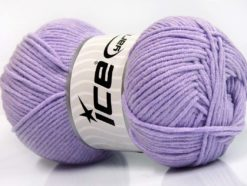 Lot of 4 x 100gr Skeins Ice Yarns LORENA WORSTED Hand Knitting Yarn Lilac
