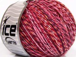 Lot of 8 Skeins Ice Yarns LORENA COLORFUL (55% Cotton) Yarn Burgundy Purple Pink Shades
