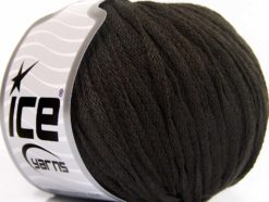 Lot of 8 Skeins Ice Yarns RIBBON WOOL (50% Wool) Hand Knitting Yarn Dark Brown