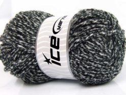 Lot of 4 x 100gr Skeins Ice Yarns ATLAS SUPERBULKY Yarn Black White