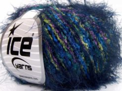 Lot of 8 Skeins Ice Yarns TECHNO PUFFY Yarn Navy Blue Pink Yellow