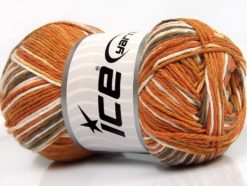 Lot of 4 x 100gr Skeins Ice Yarns NATURAL COTTON COLOR (100% Cotton) Yarn Gold Cream Brown