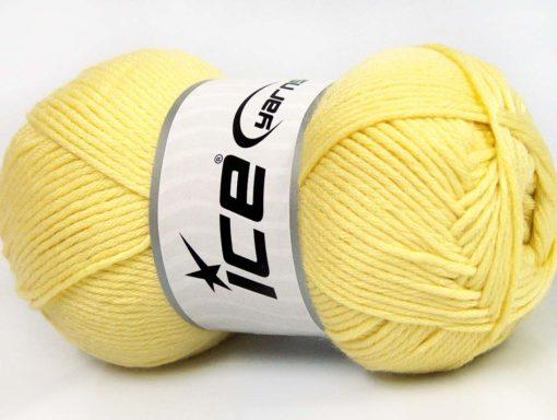 Lot of 4 x 100gr Skeins Ice Yarns BABY SOFTY Hand Knitting Yarn Light Yellow