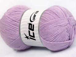 Lot of 4 x 100gr Skeins Ice Yarns LORENA SUPERFINE (55% Cotton) Yarn Light Lilac