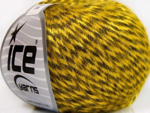 Lot of 8 Skeins Ice Yarns ROCK STAR (19% Merino Wool) Yarn Gold Black