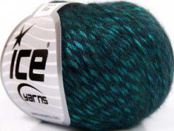 Lot of 8 Skeins Ice Yarns ROCK STAR (19% Merino Wool) Yarn Turquoise Black