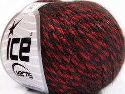 Lot of 8 Skeins Ice Yarns ROCK STAR (19% Merino Wool) Yarn Red Black