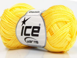 Lot of 10 Skeins Ice Yarns ETAMIN Hand Knitting Yarn Yellow