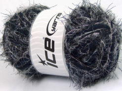 Lot of 4 x 100gr Skeins Ice Yarns TECHNO WOOL SUPERBULKY (30% Wool) Yarn Grey Navy
