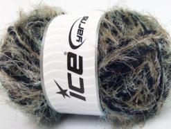 Lot of 4 x 100gr Skeins Ice Yarns TECHNO WOOL SUPERBULKY (30% Wool) Yarn Khaki Navy