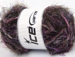 Lot of 4 x 100gr Skeins Ice Yarns TECHNO WOOL SUPERBULKY (30% Wool) Yarn Pink Lilac Brown