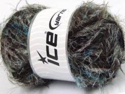 Lot of 4 x 100gr Skeins Ice Yarns TECHNO WOOL SUPERBULKY (30% Wool) Yarn Mint Green Dark Brown