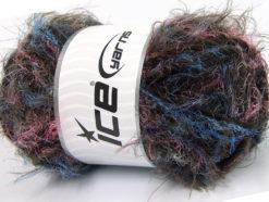 Lot of 4 x 100gr Skeins Ice Yarns TECHNO WOOL SUPERBULKY (30% Wool) Yarn Blue Pink Dark Brown