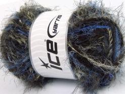 Lot of 4 x 100gr Skeins Ice Yarns TECHNO WOOL SUPERBULKY (30% Wool) Yarn Blue Yellow Dark Brown