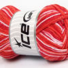 Lot of 4 x 100gr Skeins Ice Yarns NATURAL COTTON COLOR (100% Cotton) Yarn Red Salmon Shades