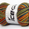 Lot of 4 x 100gr Skeins Ice Yarns NATURAL COTTON COLOR (100% Cotton) Yarn Gold Green Grey Brown