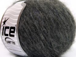 Lot of 8 Skeins Ice Yarns ROCK STAR METALLIC (25% Wool) Yarn Dark Grey