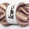 Lot of 2 x 200gr Skeins Ice Yarns NATURAL COTTON COLOR WORSTED (100% Cotton) Yarn Maroon Cream White