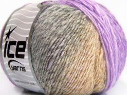 Lot of 8 Skeins Ice Yarns ROSETO (30% Wool) Yarn Lilac Shades Grey Shades Beige