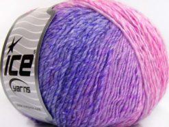 Lot of 8 Skeins Ice Yarns ROSETO (30% Wool) Yarn Lilac Shades Pink Shades