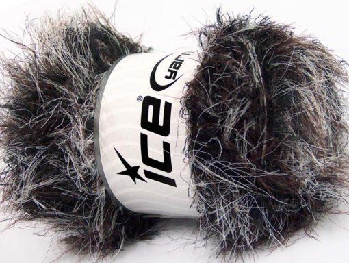 Lot of 4 x 100gr Skeins Ice Yarns SALE EYELASH BLEND Yarn Black Maroon White