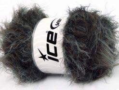 Lot of 4 x 100gr Skeins Ice Yarns SALE EYELASH BLEND Yarn Black Camel Grey
